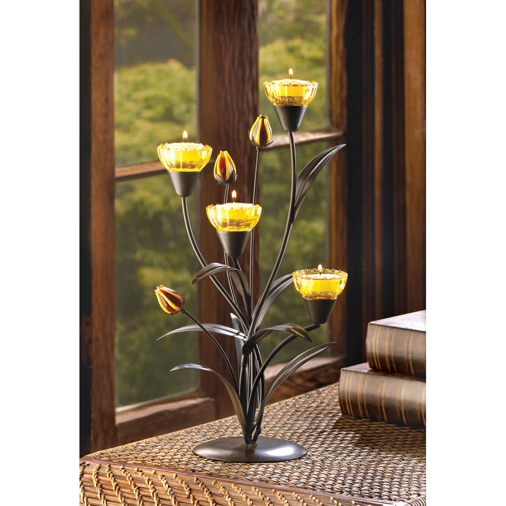 Wholesale Tiger Lily Tealight Holder - Buy Wholesale Candle Holders