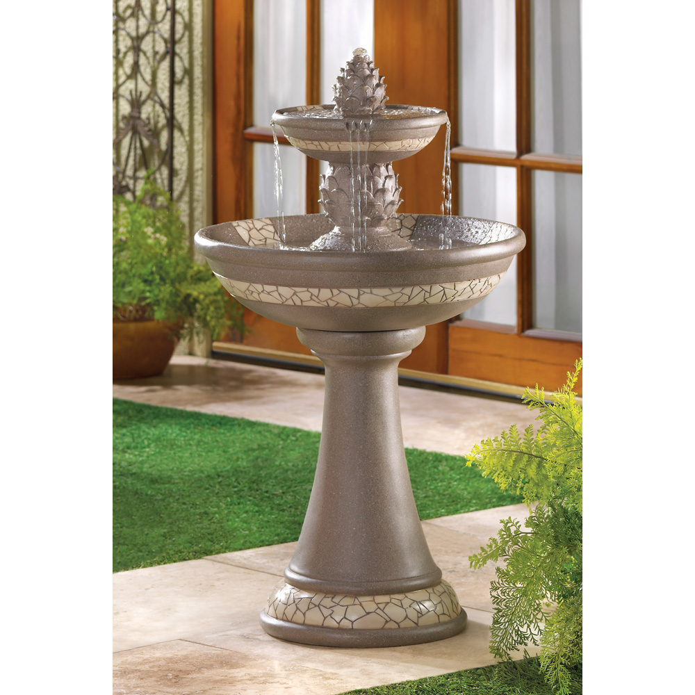 Wholesale mosaic courtyard pineapple fountain buy for Garden water fountains
