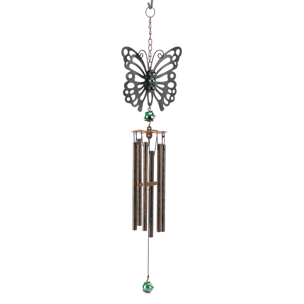 Wholesale Rustic Butterfly Windchime for sale at  bulk cheap prices!