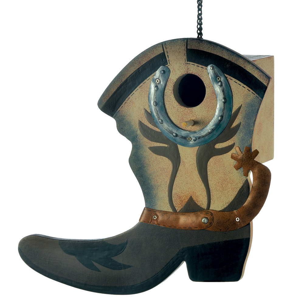 Wholesale Western Boot Birdhouse for sale at bulk cheap prices!