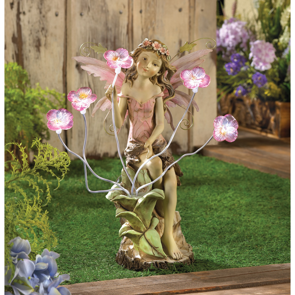 wholesale peony fairy solar statue buy wholesale garden. Black Bedroom Furniture Sets. Home Design Ideas