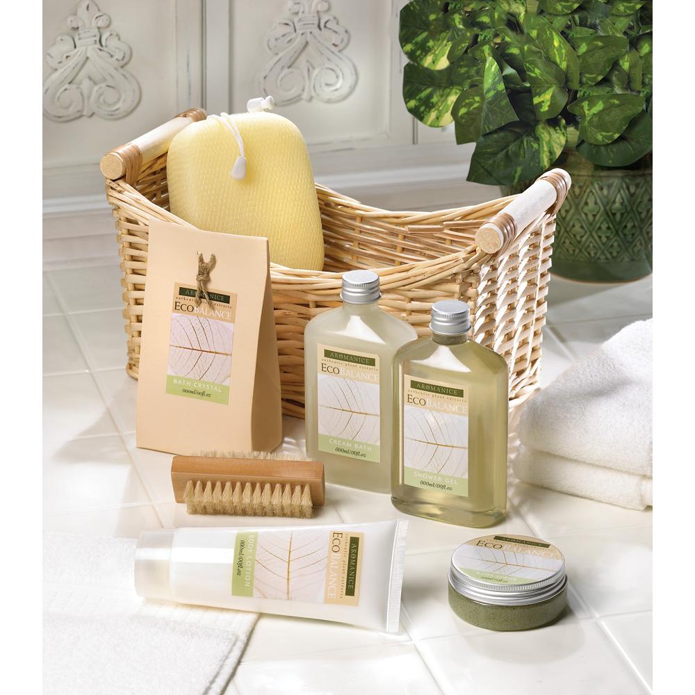 Wholesale Lemongrass Eucalyptus Spa Basket - Buy Wholesale Bath Sets