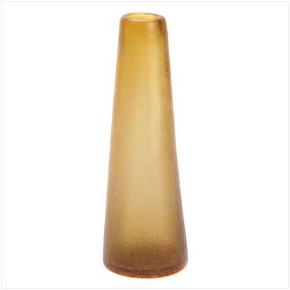 Wholesale Amber Contempo Vase for sale at  bulk cheap prices!