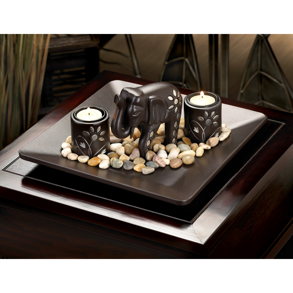 Wholesale Elephant Candleholder Set for sale at bulk cheap prices!