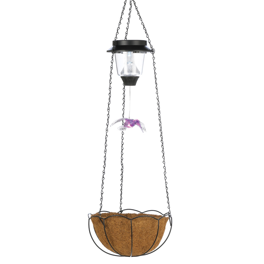 Solar H-Bird Hanging Basket