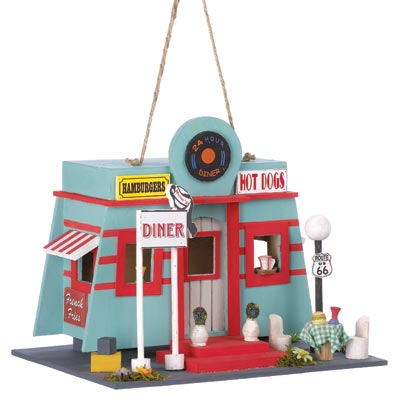 Wholesale Fifties Diner Birdhouse for sale at  bulk cheap prices!