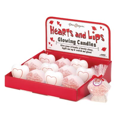 Hearts And Lips Glow Candle
