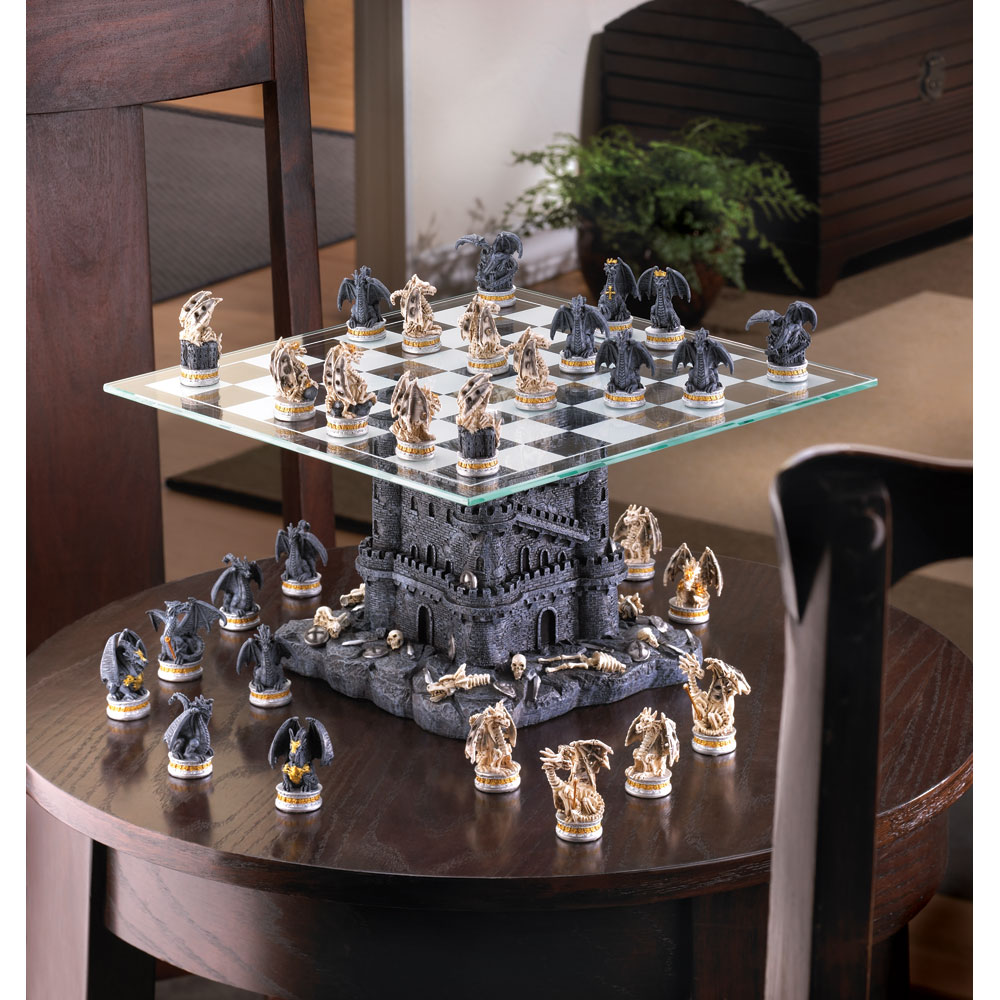 Wholesale black tower dragon chess set buy wholesale - Inexpensive chess sets ...