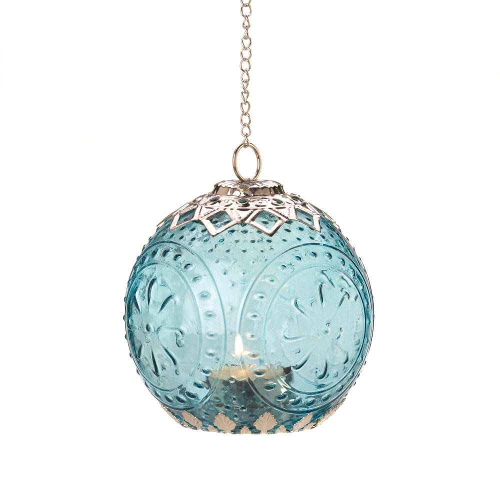 Wholesale Small Aquamarine Globe Lantern for sale at  bulk cheap prices!