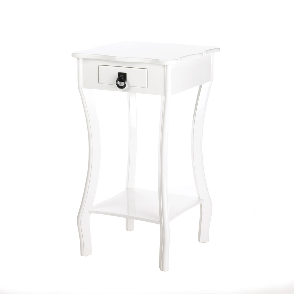 Wholesale white glossy finish accent table buy wholesale for Cheap white end tables