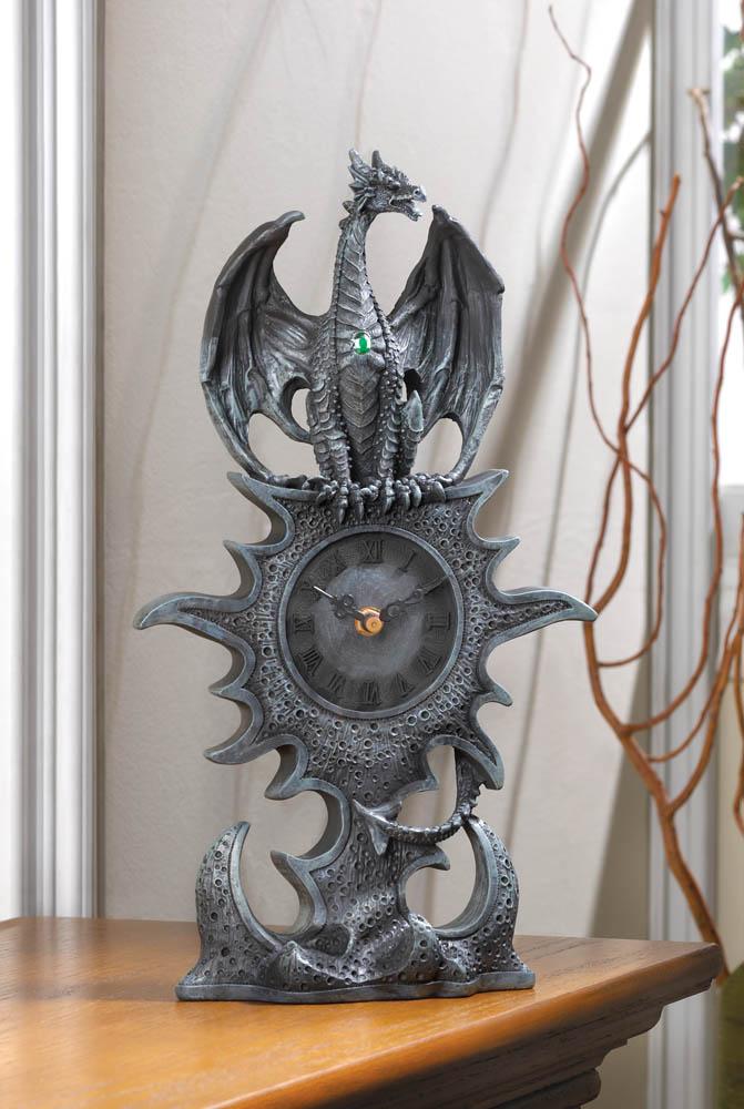 Wholesale black dragon mantel clock buy wholesale hats - Guarding dragon accent table ...
