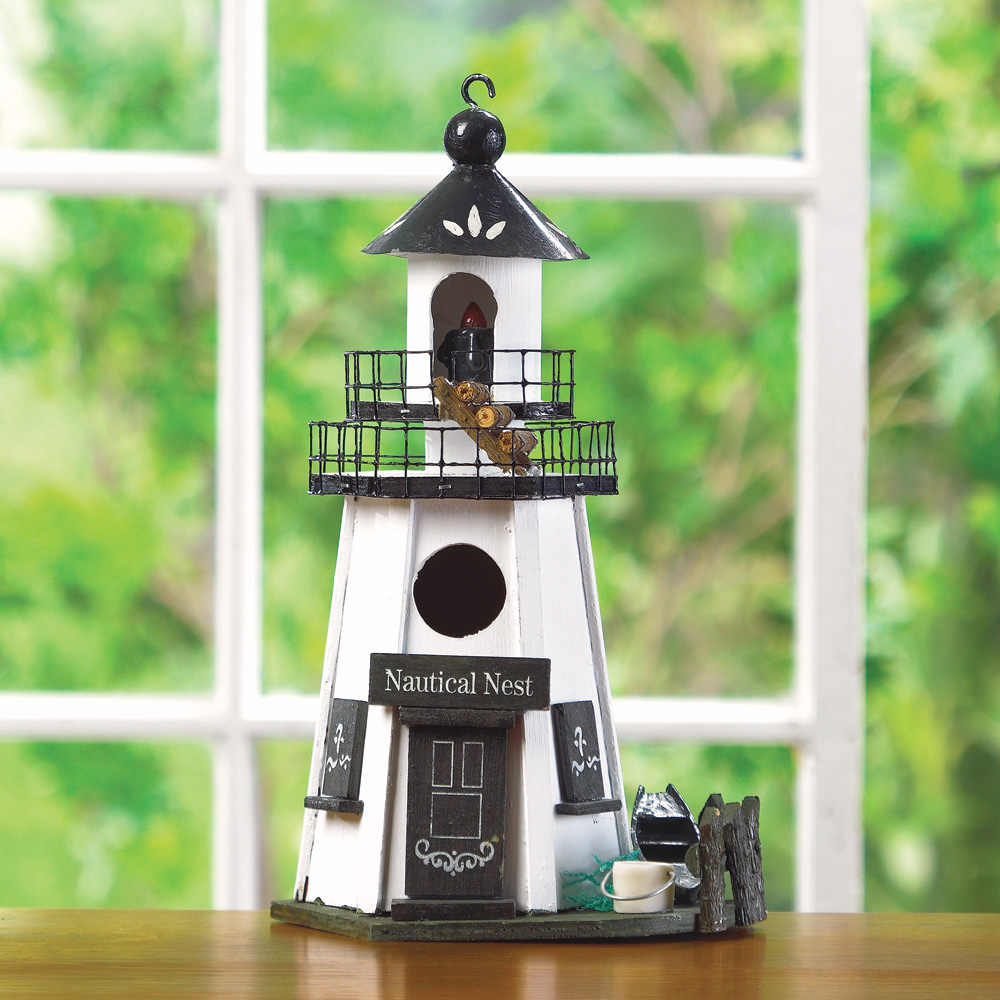 Wholesale Wood Lighthouse Birdhouse for sale at bulk cheap prices!