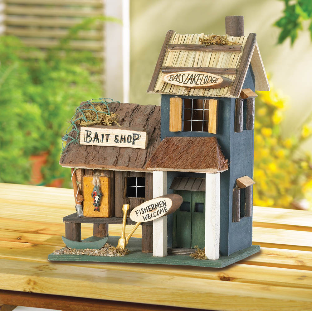 Wholesale Wood Bait Shop Birdhouse for sale at bulk cheap prices!