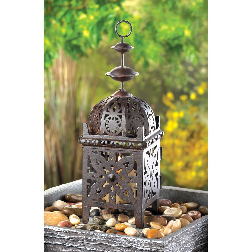 Wholesale Metal Morrocan Style Lantern Candle Lantern for sale at bulk cheap prices!