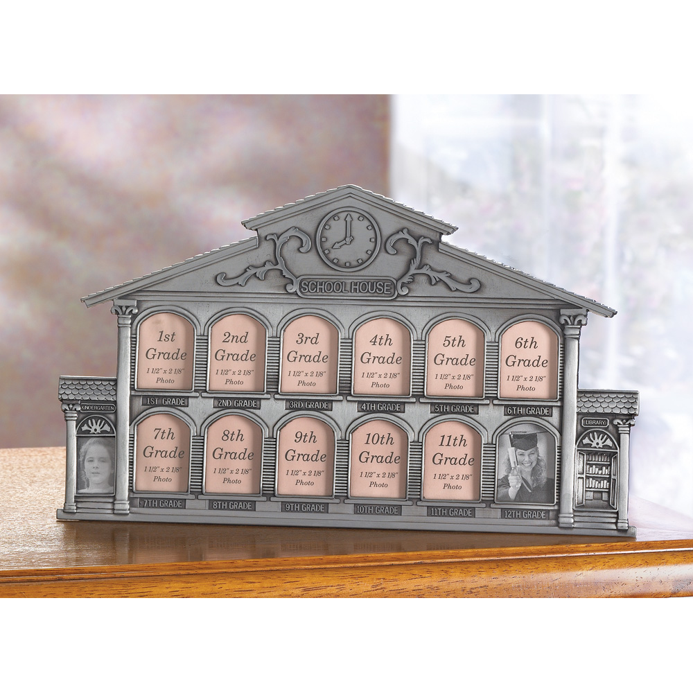 Wholesale pewter school house 13 photo frame buy Cheap a frames
