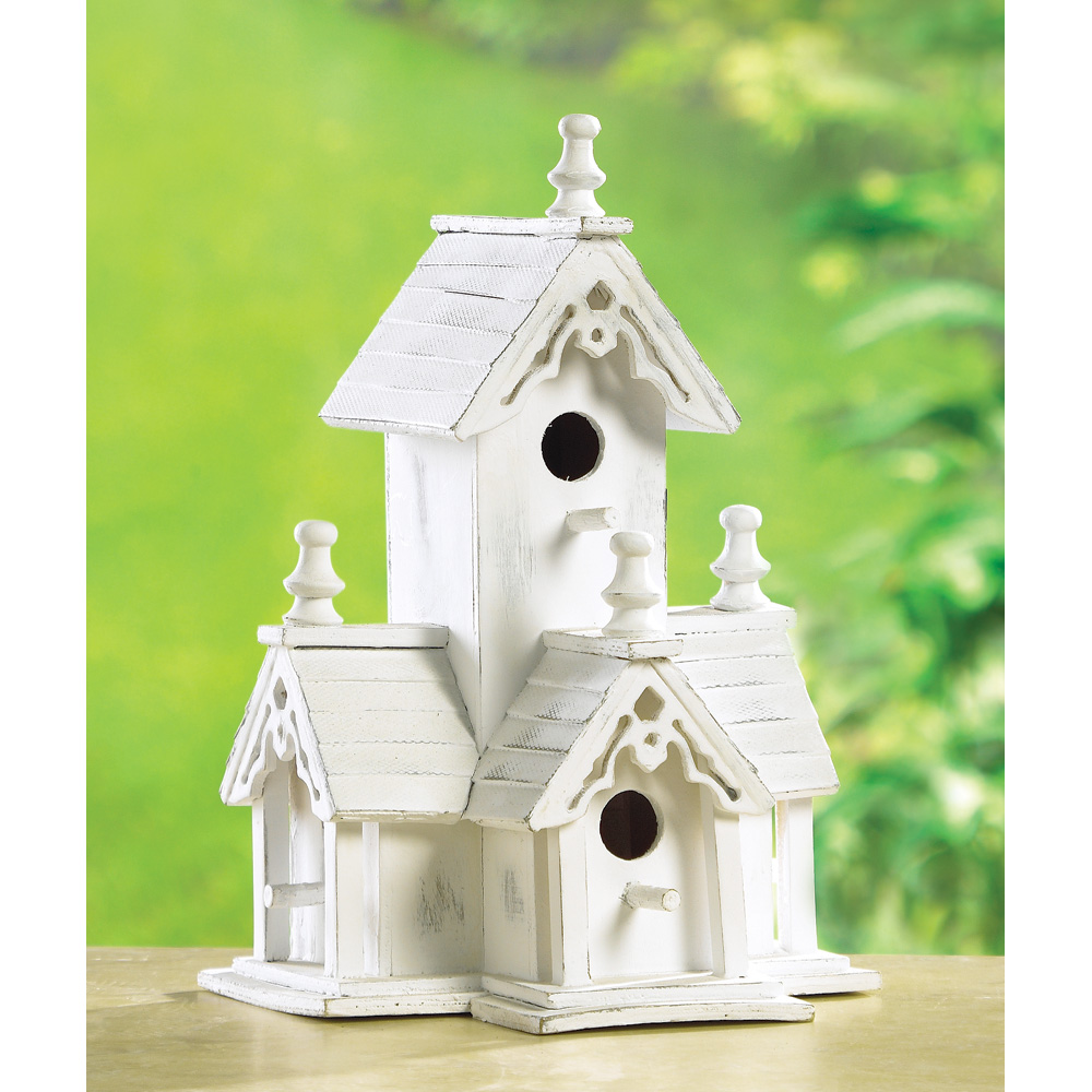 Wholesale Wood Distressed Victorian Birdhouse for sale at bulk cheap prices!