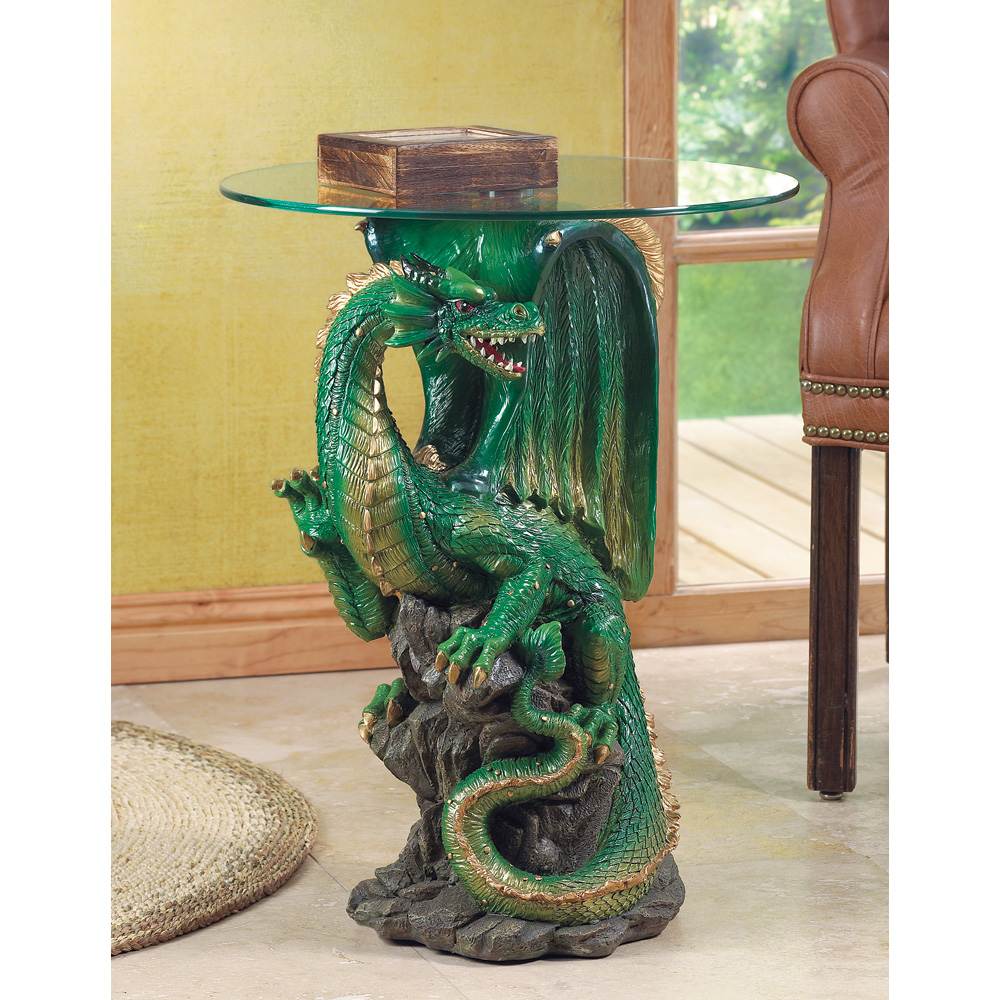Dragon Table with Glass Top