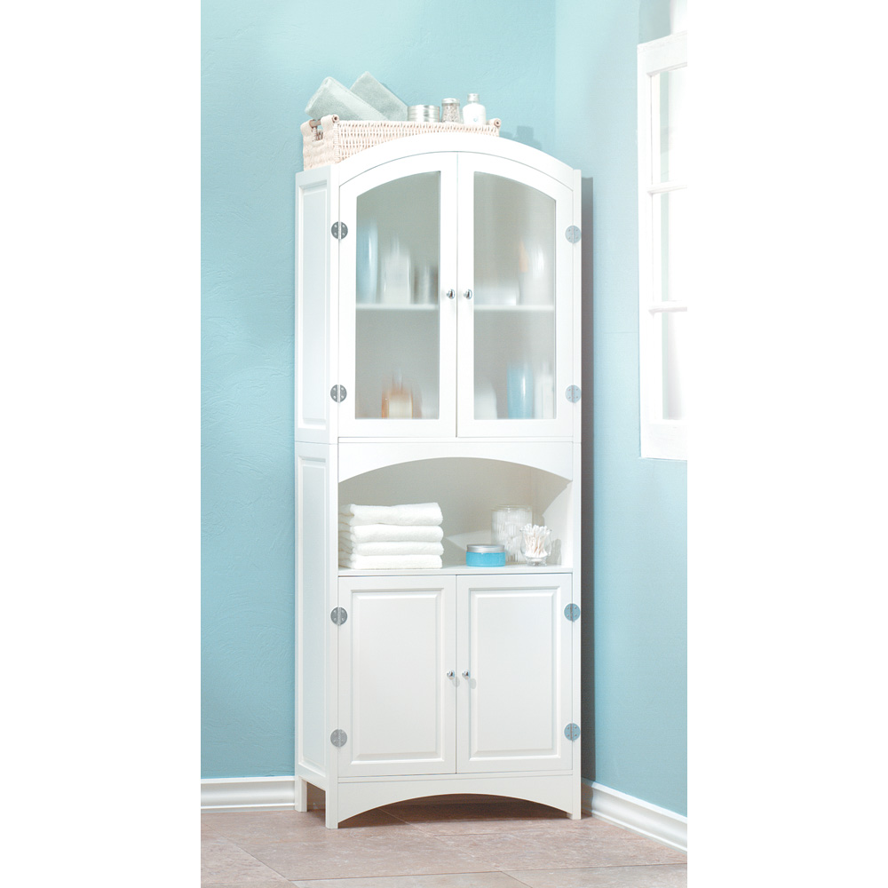 fresca bathroom white tall cabinet oxford l antique htm in linen