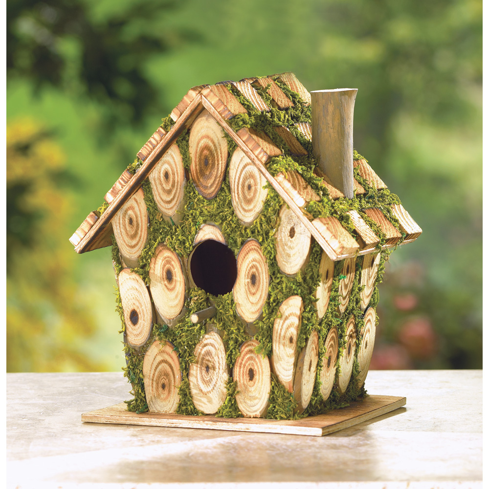 Wholesale Moss Edged Birdhouse for sale at bulk cheap prices!