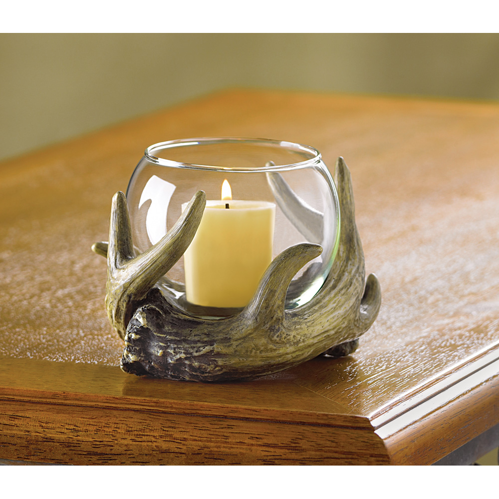 Wholesale rustic antler candle holder buy wholesale for Antler decoration