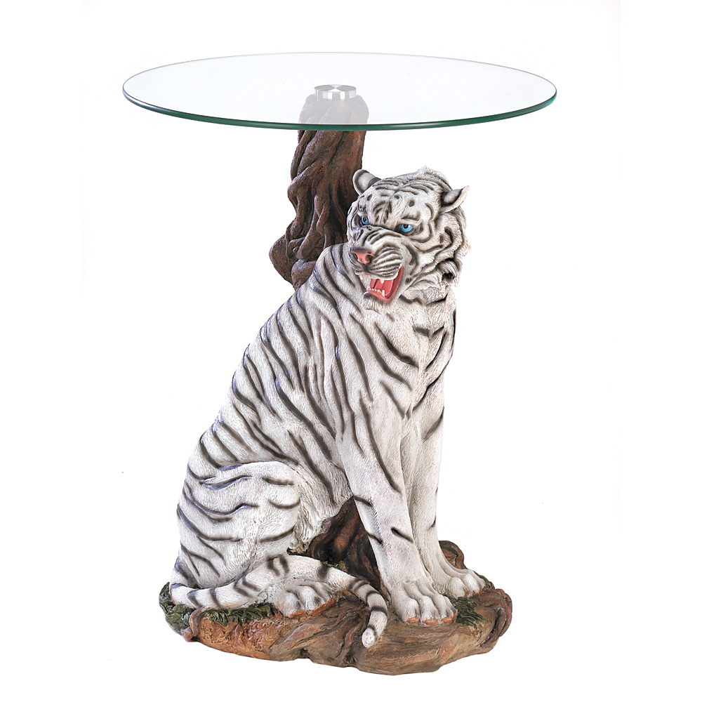 Wholesale White Tiger Accent Table For Sale At Bulk Cheap Prices!