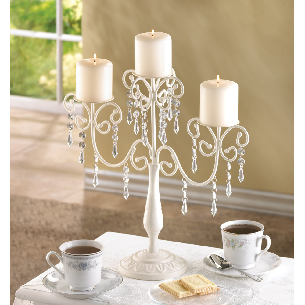 Wholesale Ivory Elegance Candleabra - Buy Wholesale Candle Holders