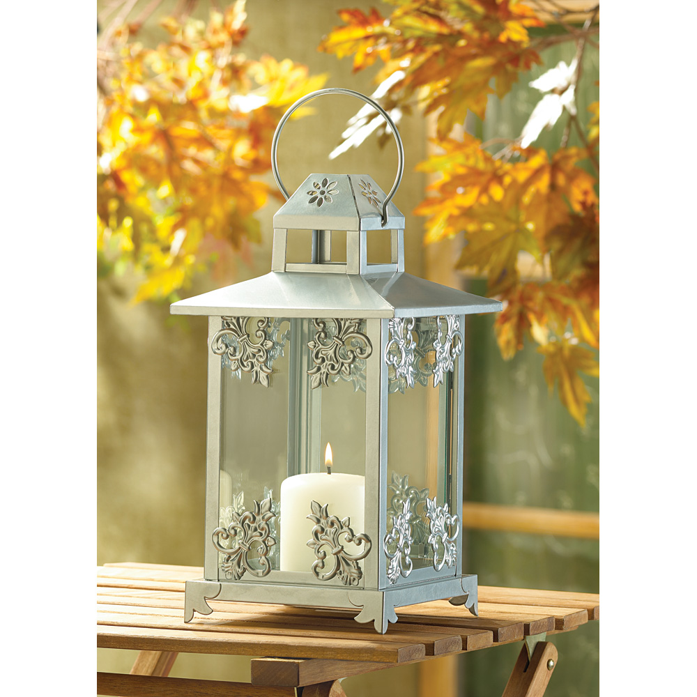 A ceramic or stone lantern is perfect for a patio, while a wooden candle lantern will be nice for a deck or garden space. Metal or wood lanterns may be the best for outdoor hanging lanterns due to any wind but for indoor hanging laterns, options are pretty limitless.