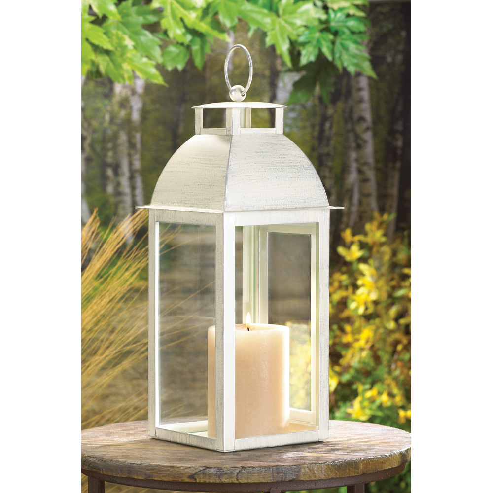 Wholesale distressed ivory candle lantern buy