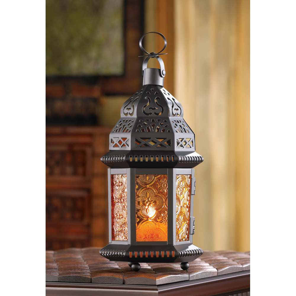 Wholesale Amber Moroccan Candle Lantern for sale at bulk cheap prices!