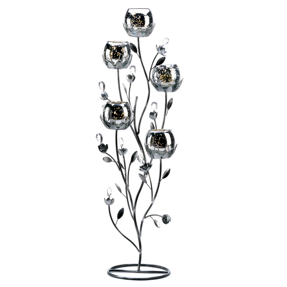 Wholesale Silver Tulip Tree Candelabra Buy Wholesale Candle Holders