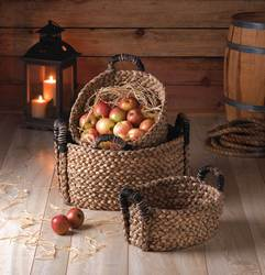 Wholesale Rustic Woven Nesting Baskets - 3 Pc. Set for sale at bulk cheap prices!