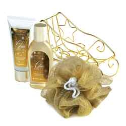 Wholesale Golden Sleigh Bath Gift Set for sale at  bulk cheap prices!