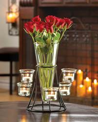 Wholesale Circular Candle Stand With Vase for sale at bulk cheap prices!