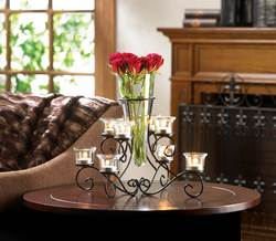 Wholesale Scrollwork Candle Stand With Vase for sale at bulk cheap prices!
