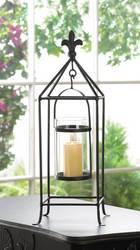 Fleur-De-Lis Framed Candle Stand
