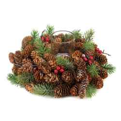 Wholesale Pine Cone Wreath Candleholder for sale at  bulk cheap prices!