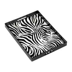 Wholesale Zebra Print Tray for sale at bulk cheap prices!