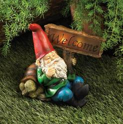 Wholesale Welcome Gnome Solar Statue for sale at bulk cheap prices!