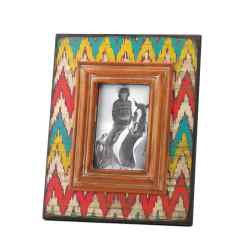 Wholesale Ikat Chevron Wood Photo Frame for sale at bulk cheap prices!
