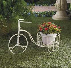 Wholesale White Tricycle Planter for sale at bulk cheap prices!