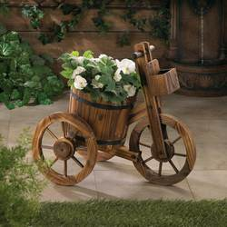 Wholesale Barrel Tricycle Planter for sale at bulk cheap prices!