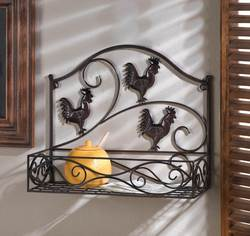 Wholesale Three Roosters Wall Basket for sale at bulk cheap prices!