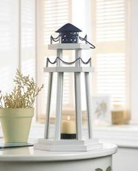 Wholesale Lighthouse Point Wooden Lantern for sale at bulk cheap prices!
