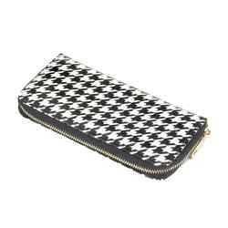 Houndstooth Zip Wallet