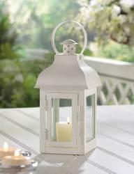Gable Small White Lantern