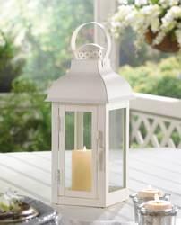 Gable Medium White Lantern