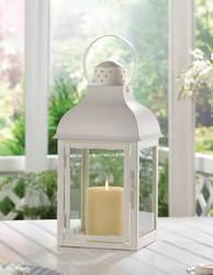 Gable Large White Lantern