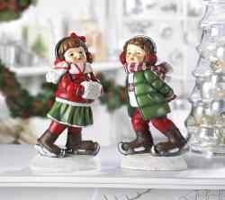 Wholesale Holly & Noel Skating Figurines for sale at  bulk cheap prices!