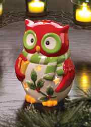 Wholesale Holiday Hoot Tealight Holder for sale at  bulk cheap prices!