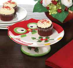 Wholesale Holiday Hoot Cake Stand for sale at  bulk cheap prices!